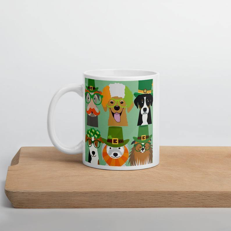 St Patricks Mug, Funny Dogs Mug, St Patricks Day Gift, Irish Mug, Gift For Irish, Funny Gift, St Patricks Tier Tray Decor - Family Presents - Great Blanket, Canvas, Clothe, Gifts For Family
