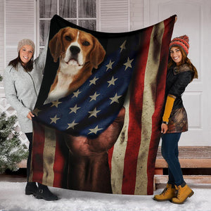 AMERICA BEAGLE DOG BLANKET