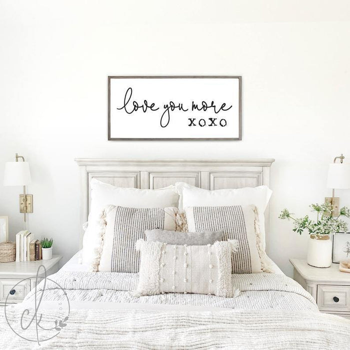 Canvas - I love you xoxo - Valentine gift for her/him - unframe canvas