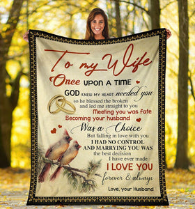 Blanket - Special gift to my wife - Birthday gift, Anniversary gift - Marring you was the best decision