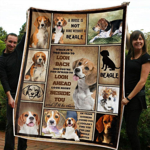 BEAGLE DOG BLANKET - LOOK RIGHT BESIDE YOU