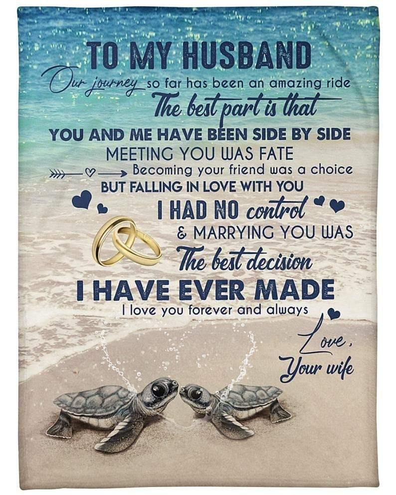 To My Husband Blanket - Meeting You Was Fate - Blanket Gift For Husband - Valentine Gift For Husband, Valentine Blanket For Couple