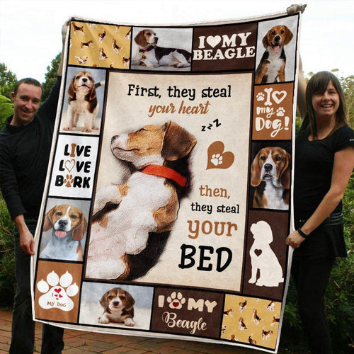 BEAGLE DOG BLANKET - I LOVE MY BEAGLE