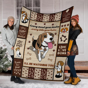 BEAGLE DOG BLANKET - I'LL BE WATCHING YOU