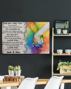 LGBT The Day I Met You Gallery Wrapped Canvas Prints  -Gift for her/him on Valentine - Couple gift