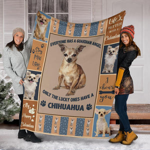 CHIHUAHUA DOG BLANKET - MY HAPPY CHIHUAHUA - Family Presents - Great Blanket, Canvas, Clothe, Gifts For Family