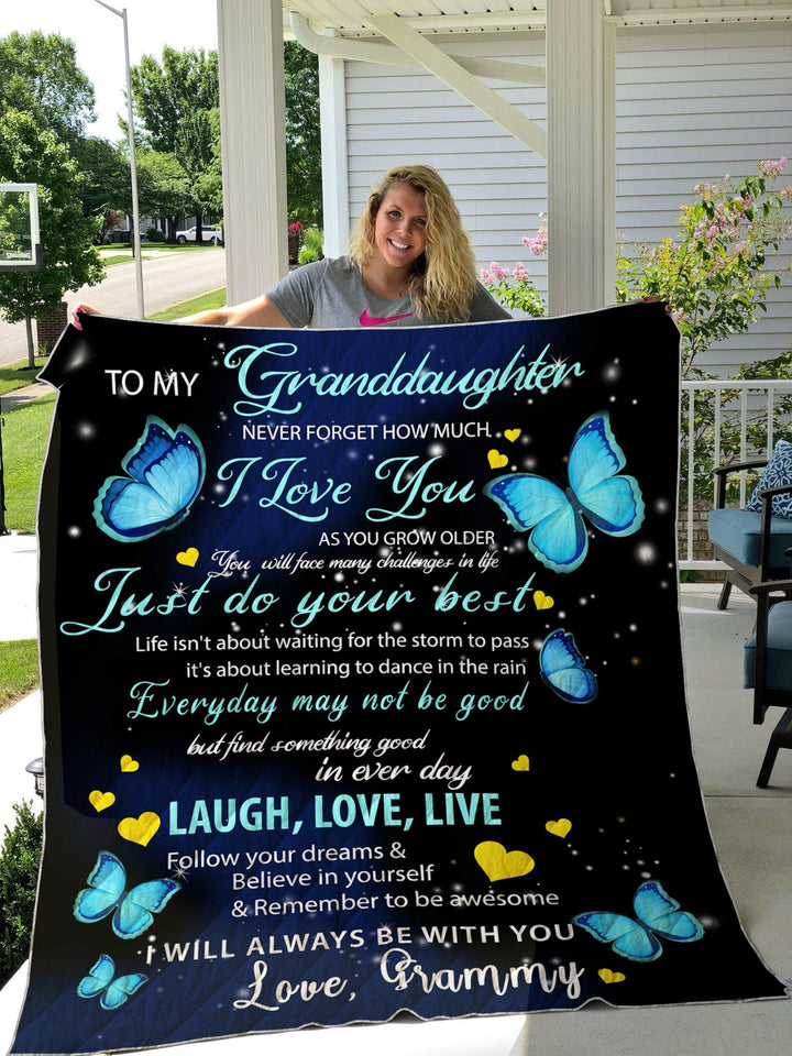 Blanket - Gift for granddaughter from grammy - To My Granddaughter I Will Always Be With You Love Grammy Blanket