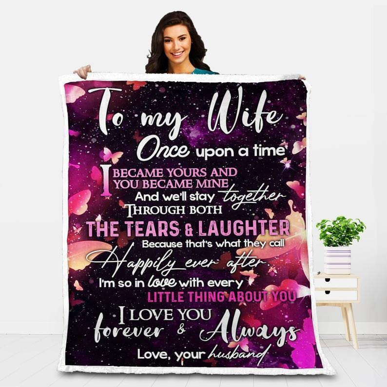 To My Wife Blanket - The Tears And Laughter - Blanket Gift For Wife - Valentine Gift For Wife, Valentine Blanket For Couple