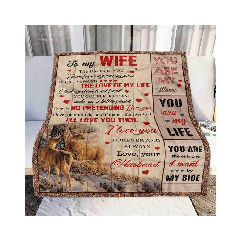 To My Wife Blanket - You Are The Only One I Want - Blanket Gift For Wife - Valentine Gift For Wife, Valentine Blanket For Couple