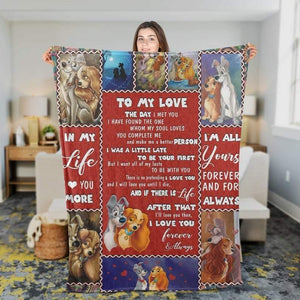 To My Husband/ Wife Blanket - The One Whom My Soul Loves - Blanket Gift For Husband/ Wife - Valentine Gift For Husband/wife , Valentine Blanket For Couple