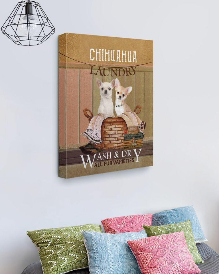 Chihuahua laundry  -  Anniversary Birthday Christmas Housewarming Gift Home - Family Presents - Great Blanket, Canvas, Clothe, Gifts For Family