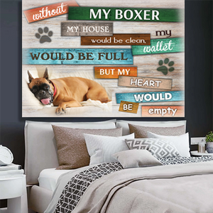BOXER DOG CANVAS PRINTS WALL ART 3