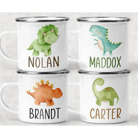 Personalized Mug Campfire Dinosaur Kids Mug Hot Chocolate Mug Personalized Kids Cup Toddler Gift Custom Dinosaur Mug Cup Mugs for Kids