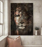 Jesus And Lion - The Perfect Combination Canvas