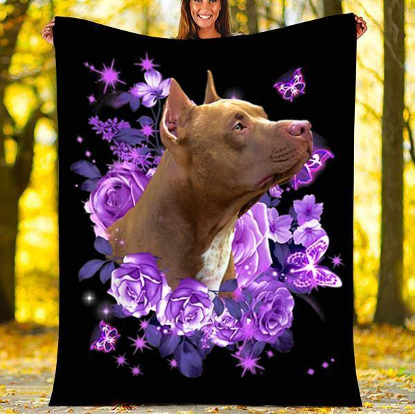 BLANKET PITBULL DOG BLANKET - VALENTINES DAY GIFTS - FLEECE BLANKET
