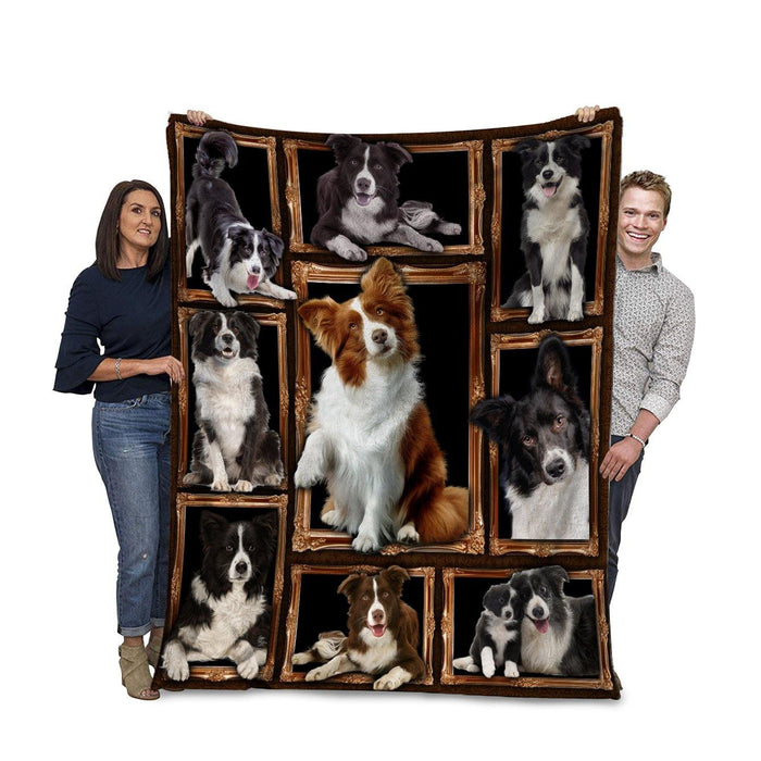 Dog Blanket 3D Border Collie Dog Fleece Blanket