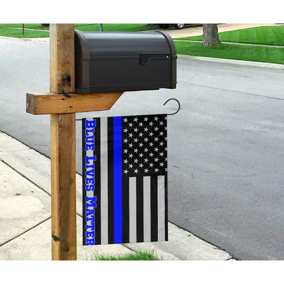 Blue Lives Matter American USA Police Flag Honoring Men Women Law Enforcement Officers - Garden Flag