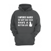Standard Hoodie - Gift for cat lovers - I work hard so my cat can have a better life