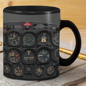 Pilot Gift Mugs Black Mug - Family Presents - Great Blanket, Canvas, Clothe, Gifts For Family