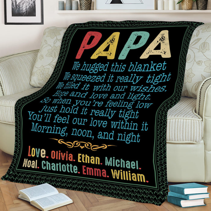 LOVELYPOD - PAPA BLANKET NEW- PERSONALIZED BLANKET