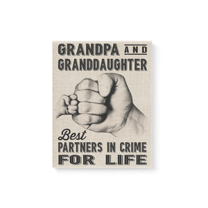 Grandpa And Granddaughter Canvas Prints Wall Art - Matte Canvas - Family Presents - Great Blanket, Canvas, Clothe, Gifts For Family