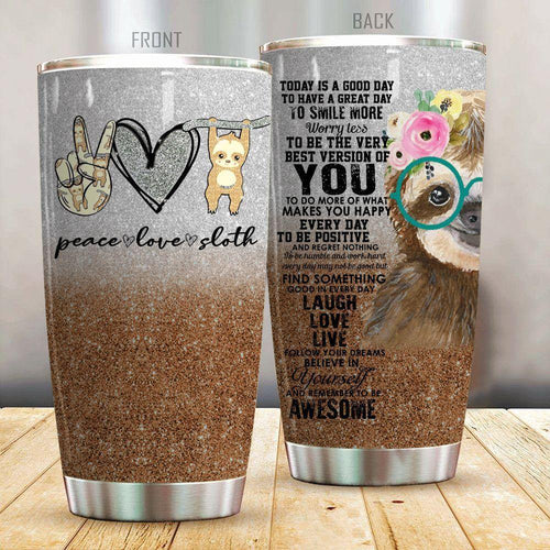 Love Sloth Stainless Steel Insulated Tumbler Cups
