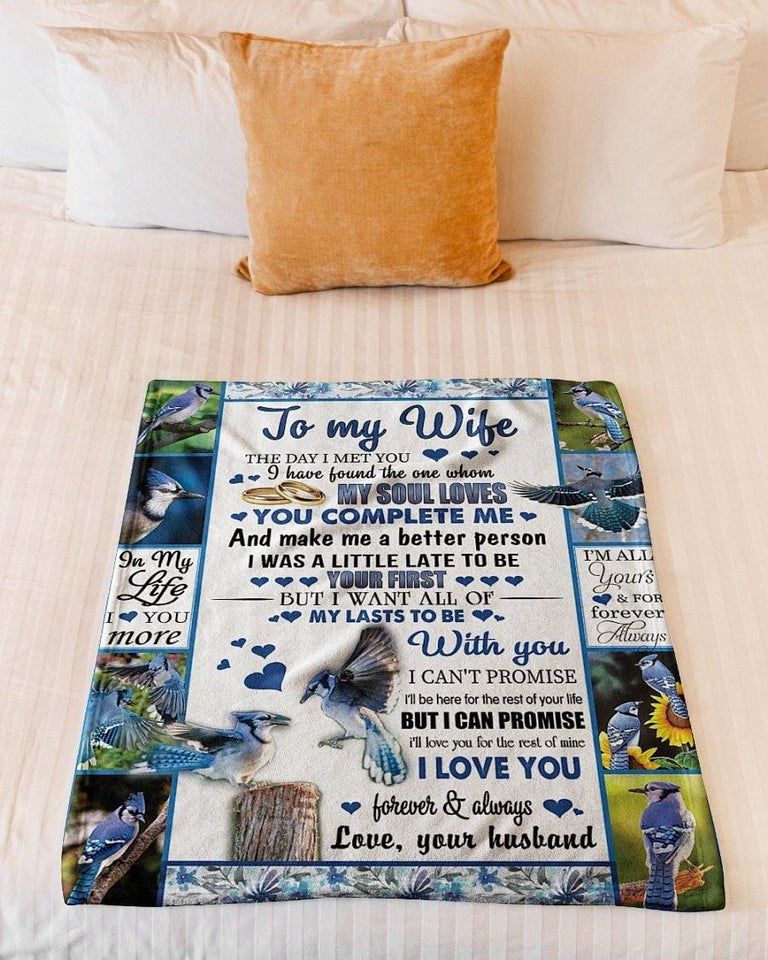 To My Wife Blanket - My Soul Loves - Valentine Gift For Wife , Valentine Blanket For Couple