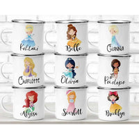 Personalized Kids Mug, Princess Kids Cup, Custom Coffee Cup, Princess Mug, Campfire Mug