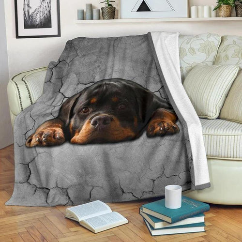 Rottweiler Dog Sofa Blanket - Family Presents - Great Blanket, Canvas, Clothe, Gifts For Family