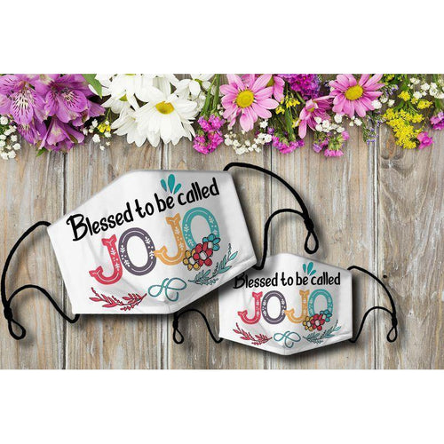 Blessed to be called JOJO Cloth Mask - Family Presents - Great Blanket, Canvas, Clothe, Gifts For Family