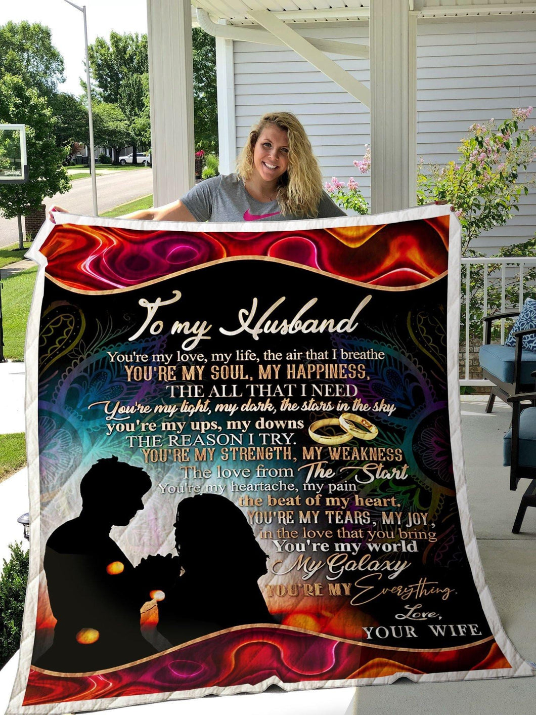 To My Husband Blanket - My Love My Life - Valentine Gift For Husband , Valentine Blanket For Couple