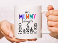 Personalised Mother's Day Coffee Mug Custom Mug For Mum Mother's Day Gift For Mom Birthday Gift For Mum Best Mama Ever Mum Mugs Mugs For Mum Mother's Day