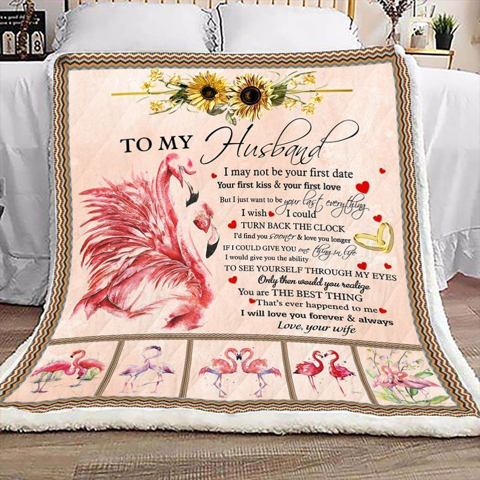 To My Husband Flamingo Blanket - You Are The Best Thing - Valentine Gift For Husband , Valentine Blanket For Couple