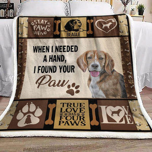 Beagle Dog Blanket - I found your paw
