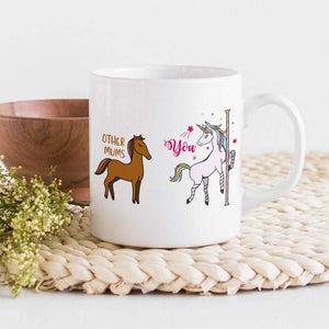 Mother's Day Gifts,   Funny Mum Mug With Horse & Unicorn / Cute Gift For Mum / Other Mums And You / Mother's Day Gift / Pregnancy Announcement / Baby Shower Gift - Family Presents - Great Blanket, Canvas, Clothe, Gifts For Family