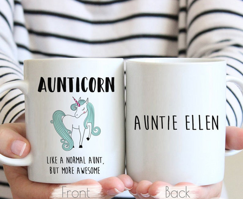 Aunticorn - Aunt Gift, Aunt Mug, Unicorn Auntie Gifts, Auntie Gift, Gift For Aunt, Aunt to Be Gift, Aunticorn Present, New Aunt Mug - Family Presents - Great Blanket, Canvas, Clothe, Gifts For Family