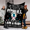 BLANKET I AM TELLING YOU I'M NOT A PITBULL BLANKET - FLEECE BLANKET