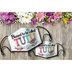 Blessed to be called TUTU Cloth Mask - Family Presents - Great Blanket, Canvas, Clothe, Gifts For Family