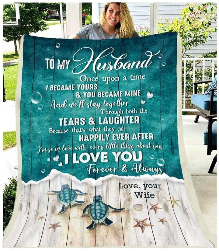 To My Husband Blanket - I'm So In Love With Every Little Thing  - Valentine Gift For Husband , Valentine Blanket For Couple