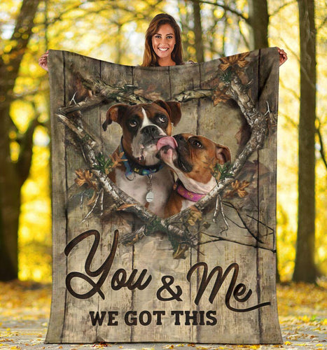Boxer Dog Sofa Blanket - You And Me We Got This