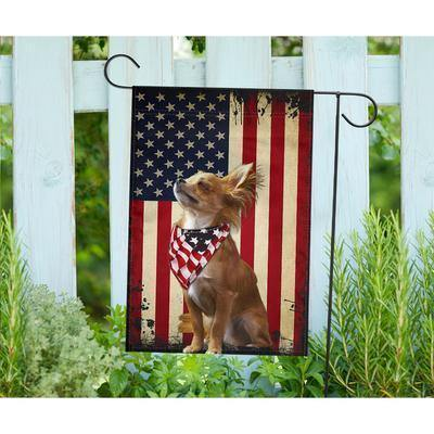I LOVE CHIHUAHUAS AMERICAFLAG - Garden flag - Family Presents - Great Blanket, Canvas, Clothe, Gifts For Family
