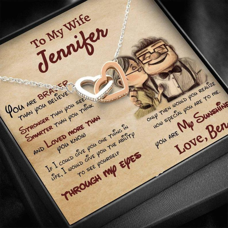Personalized Necklace, Husband to Wife, Gift For My Wife On Valentine, You are loved more than you know