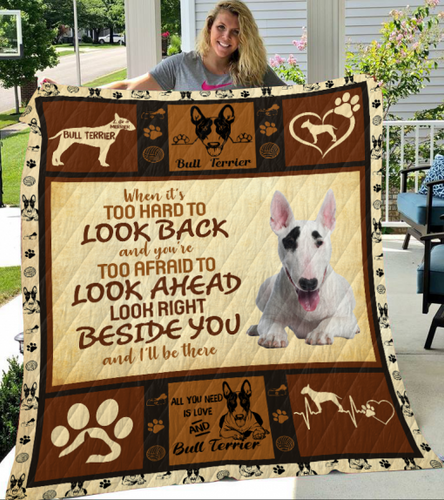 Bull Terrier Dog Blanket - All you need is love and Bull Terrier