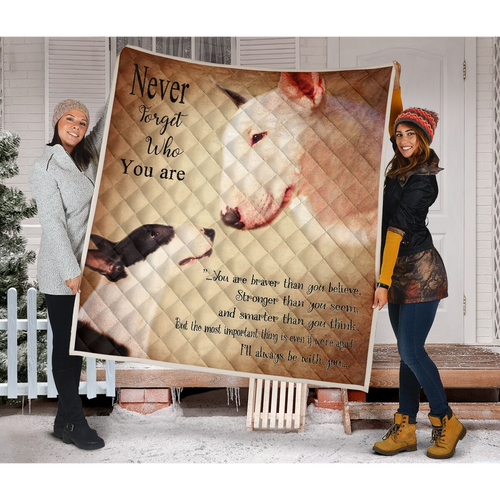 Bull Terrier Dog Blanket - I'll always be with you