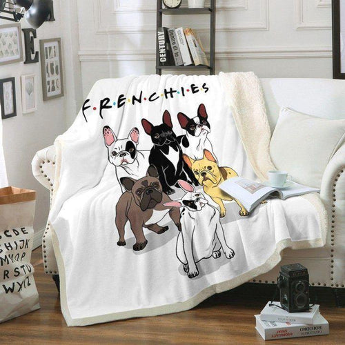 Bulldog Dog Sofa Blanket - Frenchies