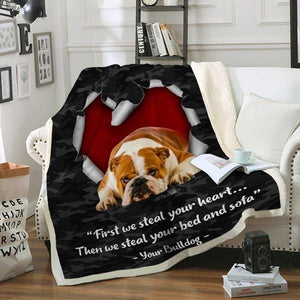 Bulldog Sofa Blanket - We steal your heart