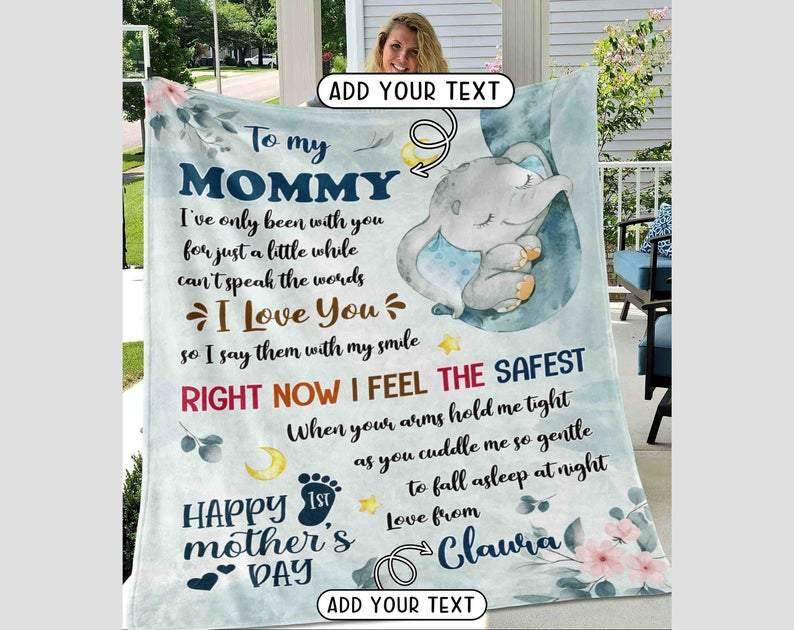 Personalized Mothers Day Gift Custom Blanket From Daughter To My Mom