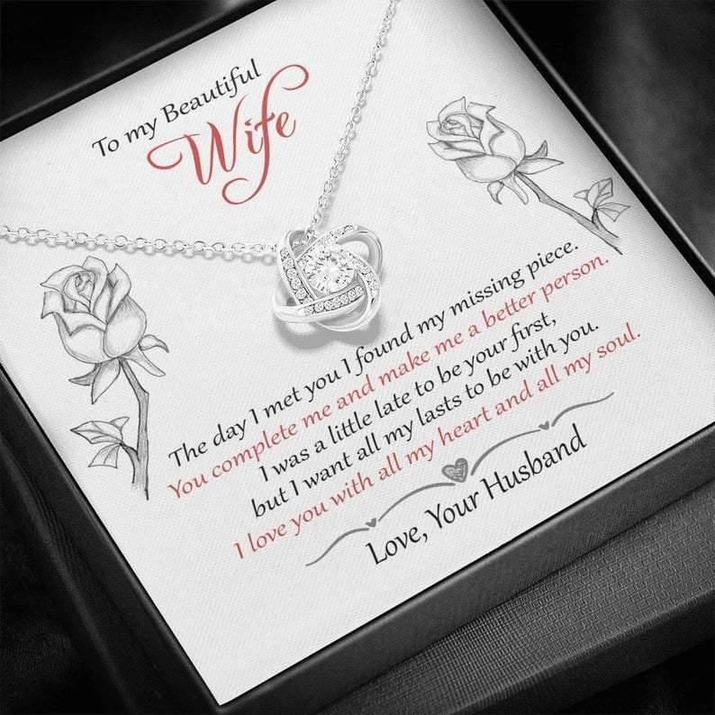 To My Beautiful Wife, Valentine gift for her -