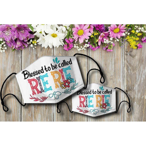 Blessed to be called RIERIE Cloth Mask - Family Presents - Great Blanket, Canvas, Clothe, Gifts For Family