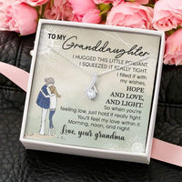 Alluring Beauty Necklace Gift - Granddaughter Necklace Gifts - Grandma To Granddaughter Gifts With Box Message Card